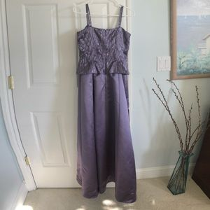 Adrianna Papell lavender gown